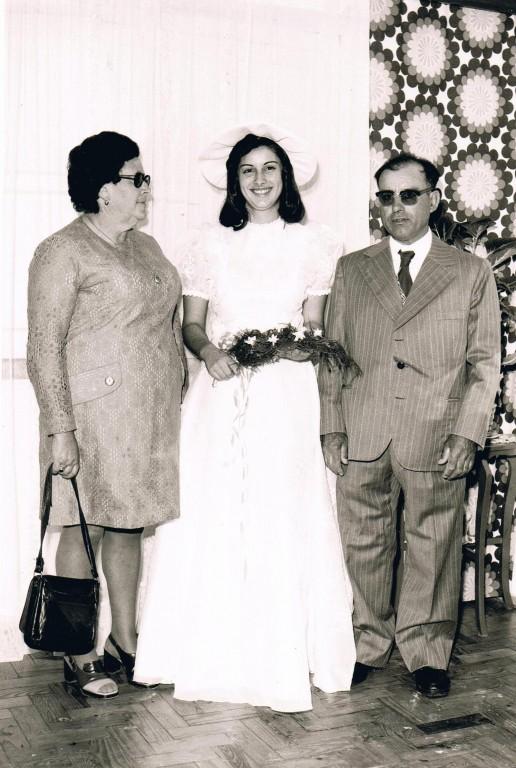 A noiva com os pais