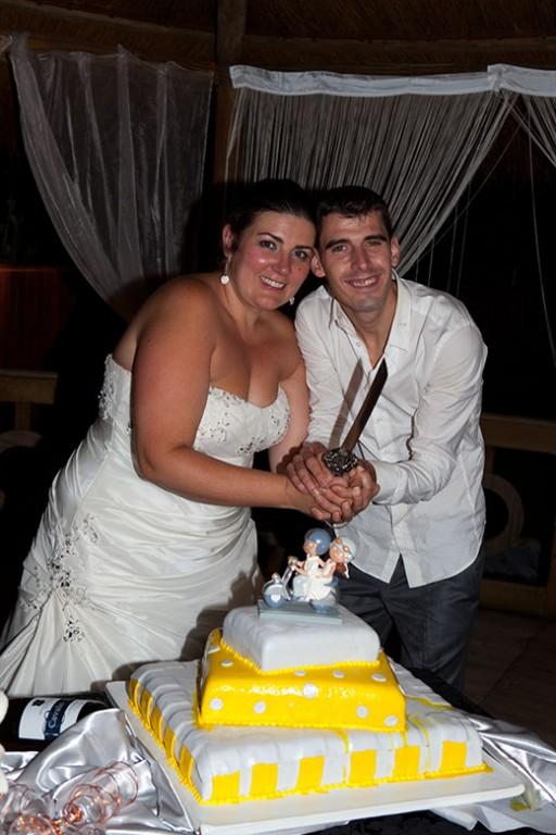 O corte do bolo