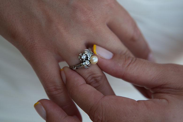 O anelo de noivado da minha Mãe
