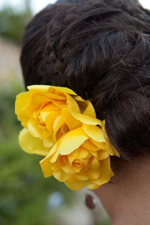 A flor do cabelo