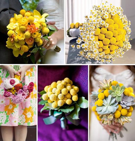 Bouquets de flores amarelas