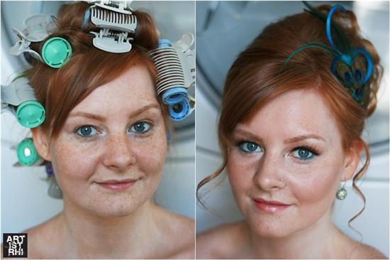 Noivas: antes e depois da maquilhagem