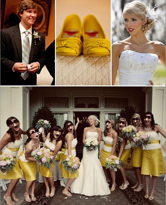 Fotografias casamento em tom amarelo