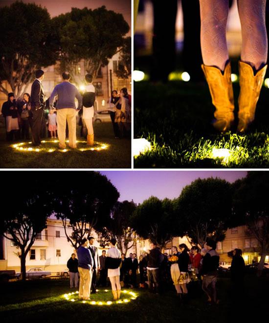 Fotografias de casamento à noite