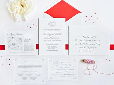 Descrição: 1x1.trans Katie + Matts Classic Southern Wedding Invitations