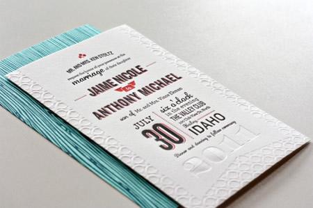 Descrição: 1x1.trans Jaime + Anthonys Modern Woodgrain Wedding Invitations