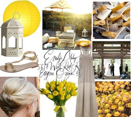 Decoração do casamento em tons de amarelo