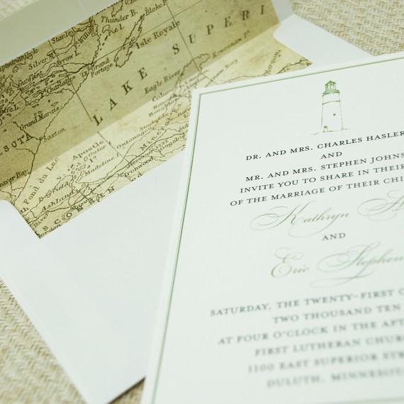 Interior do envelope do convite