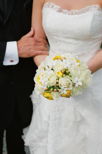 Bouquet de noiva de pequena dimensão