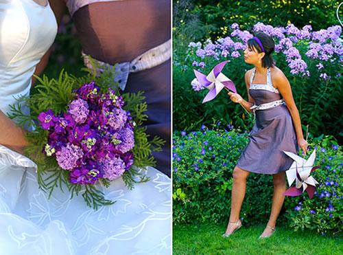 Um bouquet de noiva que complementa detalhes