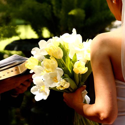 bouquet de noiva simples e chique