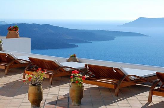 Lua-de-mel em Santorini