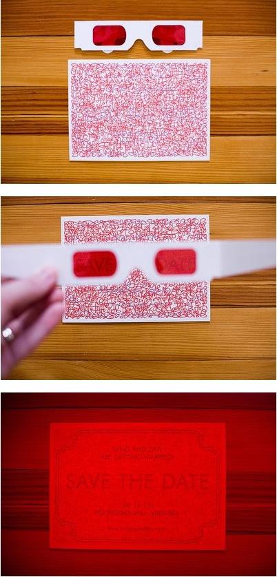 Convite de casamento criativo - 3D