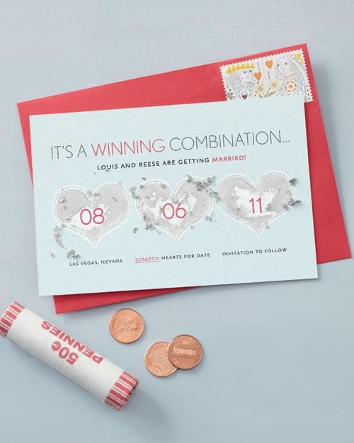 Convite de casamento bem-humorado