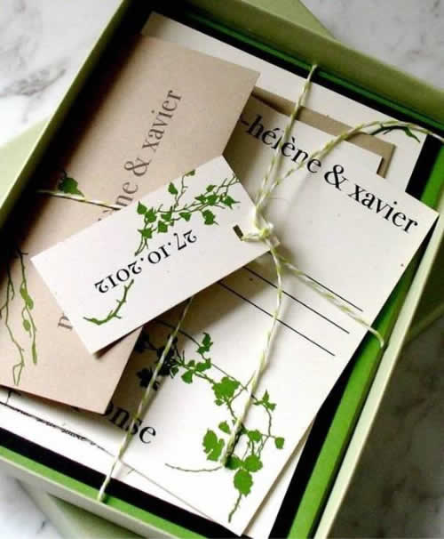 Convite de casamento ecológico