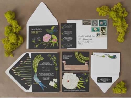 Convite de casamento inspirados na natureza