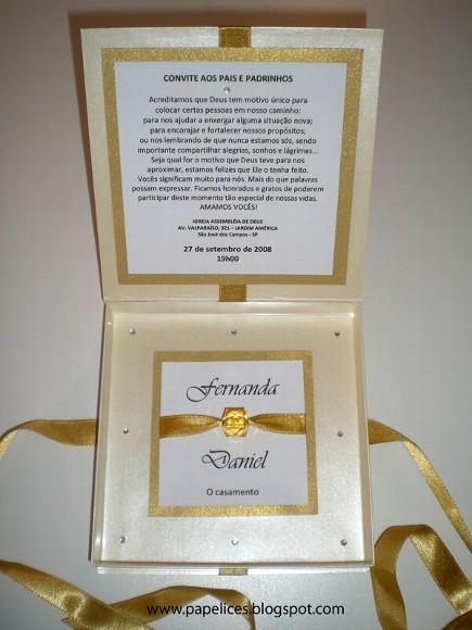 Convites Para Os Pais Dos Noivos O Nosso Casamento
