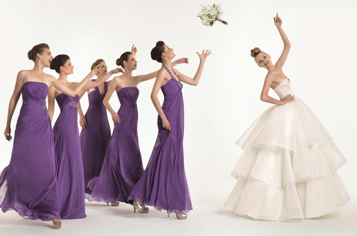vestido de novias y damas de honor: