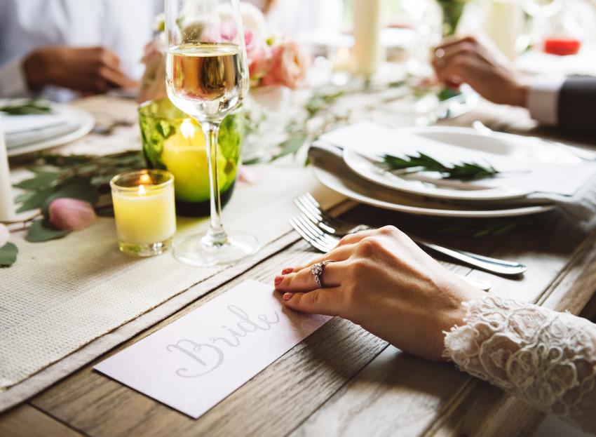 Noiva na mesa