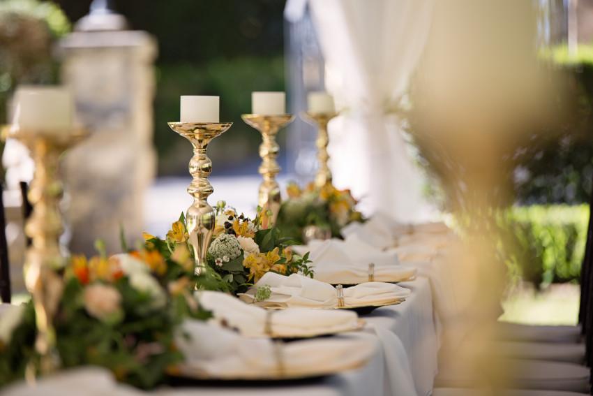 Mesa com decoração