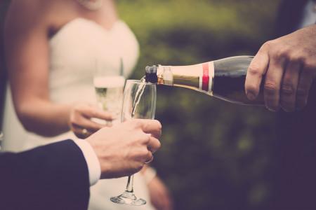 Brinde com champanhe