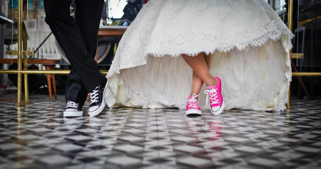 Noivos de sapatilhas